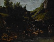 Courbet, Gustave - Cascade in a Rocky Landscape - Google Art Project.jpg