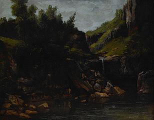 Cascade in a Rocky Landscape