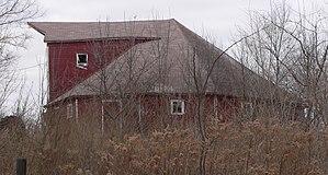 National Register of Historic Places listings in Cedar County, Nebraska - Image: Couser Barn from E 1