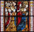 Coutances Cathédrale Notre-Dame Vitrail Baie 218 Lancette gauche 3e registre - groupe des confesseurs et des martyrs 2014 08 25.jpg