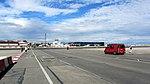 Crossing the Gibraltar Airport runway on foot 20121020 145639.jpg
