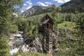 Crystal Mill, an 1892 wooden powerhouse located on an outcrop above the Crystal River in what remains of an old mining town, Crystal, high in the Rocky Mountains in Gunnison County, Colorado LCCN2015633759.tif
