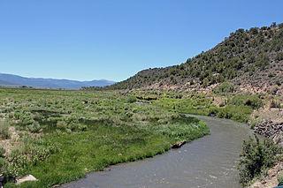 Culebra Creek river in Colorado, United States of America