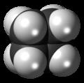 Cyclobutane molecule spacefill.png