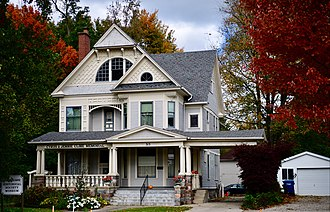 National Register of Historic Places listings in Steuben County, Indiana - Image: Cyrus and Jennie Cline House