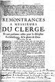 Démia - Remonstrances a Messieurs du Clergé, Et aux personnes zelées pour la discipline Ecclesiastique, & la gloire de Dieu, 1688.pdf