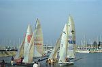 Dériveurs 18 pieds australiens au Salon Nautique International à Flot de La Rochelle 1987 (5).jpg