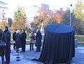 Düsseldorf, Enthüllung des Uecker-Nagels am Anfang der Königsallee, 2013-11-20 (1).jpg