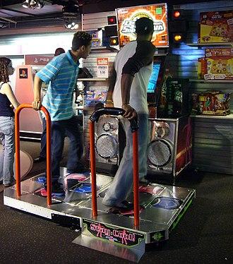 Dance Dance Revolution SuperNova - Image: DDR Super NOVA at Toys R Us (cropped)