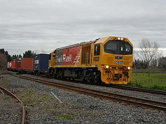 KiwiRail - A new DL class locomotive (9020), purchased as part of KiwiRail's turnaround plan.