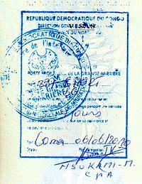 DRC Entry Stamp 2010