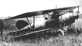 Manfred von Richthofen - Richthofen's Albatros D.V after forced landing near Wervicq. This machine is not an all-red one