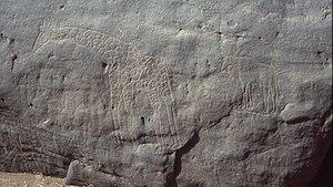 Dabous Giraffes - Smaller petroglyphs near the Dabous Giraffes