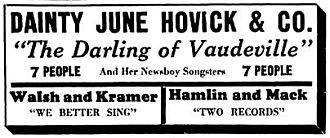 June Havoc - November 13, 1927 ad in The Decatur Review