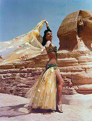 Belly dance - Dalilah filming Keyf Ansak in Cairo, Egypt 1957.