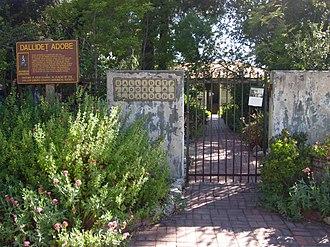 California Historical Landmarks in San Luis Obispo County, California - Image: Dallidet Adobe and Gardens