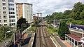 Dalmuir interchange railway station, Clydebank, Scotland. The view west.jpg