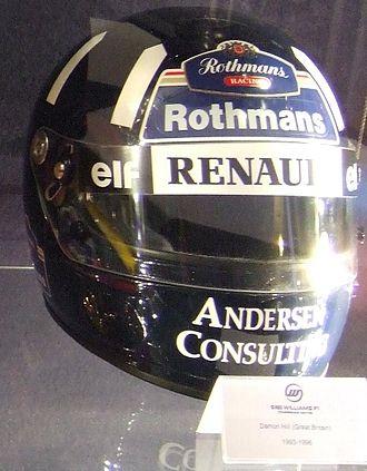 Damon Hill - Hill's helmet