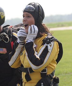 Dana Jacobson - Image: Dana Jacobson skydiving with Army Golden Knights 6 30 08