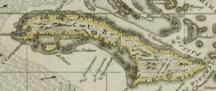 Cuba-Il periodo precolombiano e la dominazione spagnola-Darlington map of Cuba 1680