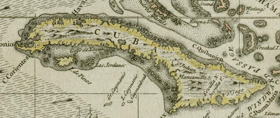 Darlington map of Cuba 1680