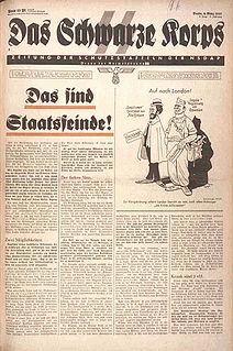 <i>Das Schwarze Korps</i> Official newspaper of the Schutzstaffel (SS) in Nazi Germany