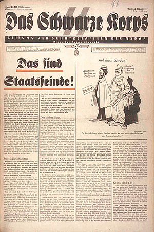 Das Schwarze Korps - Image: Das Schwarze Korps 1937