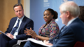 David Cameron and Serah Makka at Chatham House - 2018 (40689268285).png