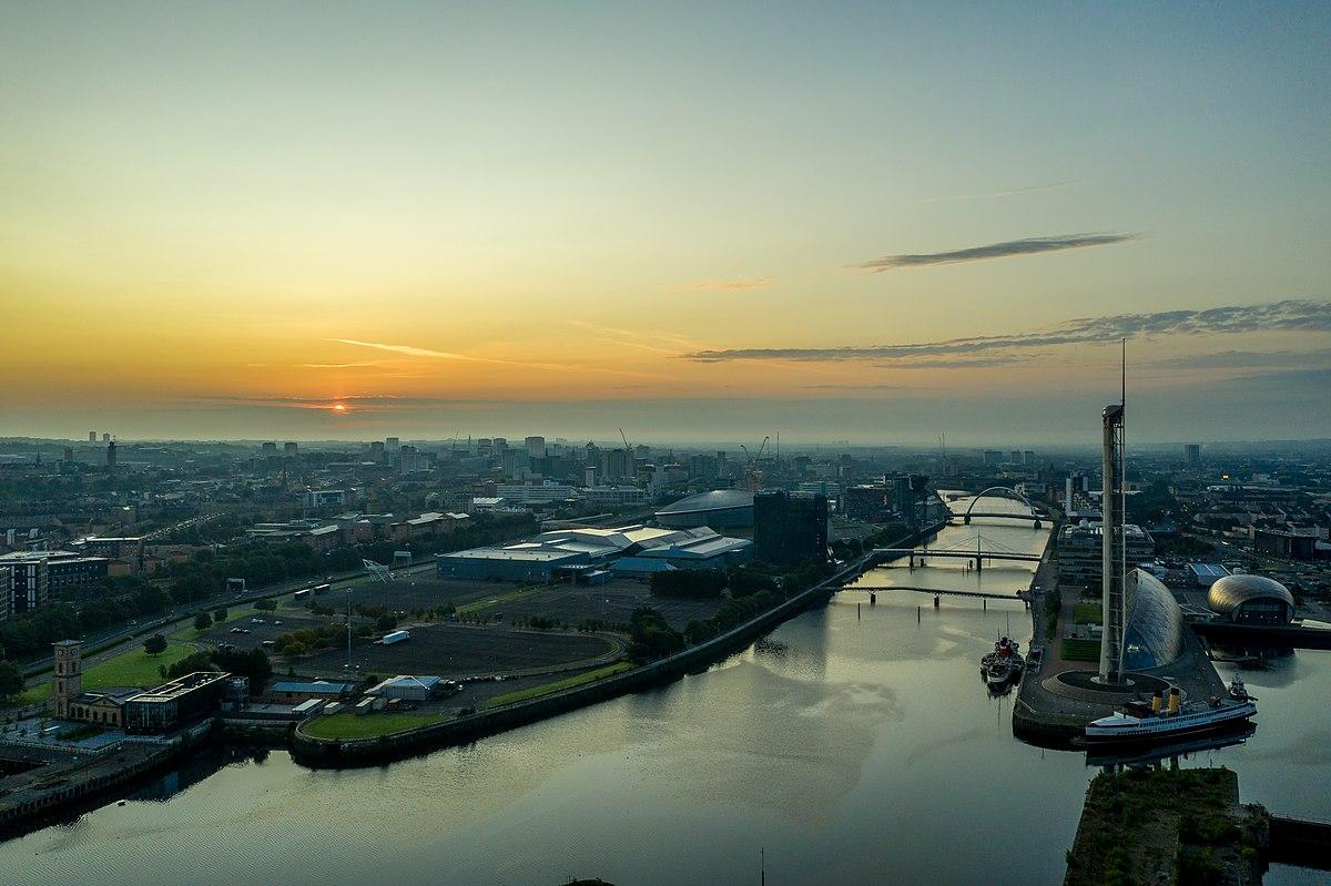 Dawn over Glasgow