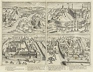 De inname van Breda door Prins Maurits op 4 maart 1590 in vier scènes - The capture of Breda by Prince Maurice in 1590 in 4 scenes