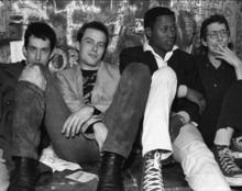 From left to right: East Bay Ray, Jello Biafra, D. H. Peligro and Klaus Flouride