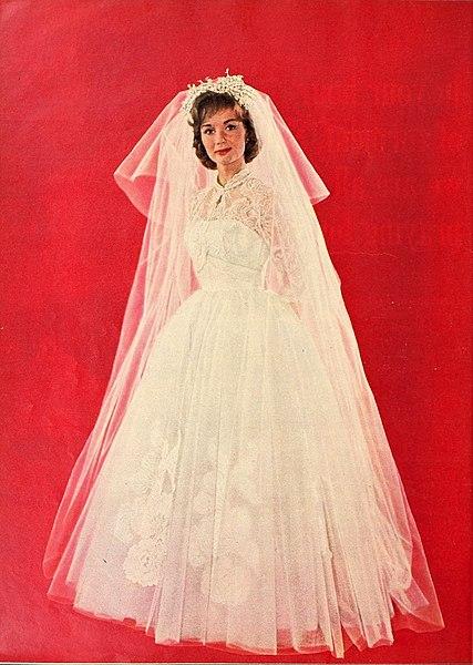 File:Debbie Reynolds as a bride, 1960.jpg