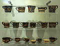 Decorated cups Phaistos archmus Heraklion.jpg