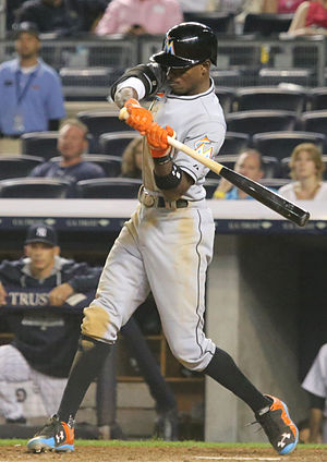 Dee Gordon - Gordon batting for the Miami Marlins in 2015