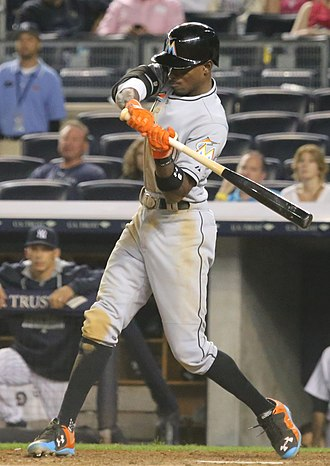 Dee Gordon - Gordon batting for the Miami Marlins in 2015