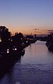 Delft (Schie) at sundown.JPG