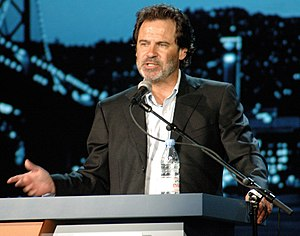 Dennis Miller speaking at JavaOne, 2005.