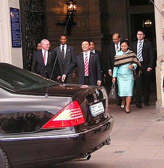Lalao Ravalomanana - Lalao Ravalomanana and her husband, 2007