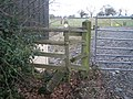 Derelict stile on a Right of Way - geograph.org.uk - 658764.jpg