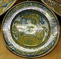 Deruta, piatto con busto di guerriero, 1500-30 ca. 01.jpg