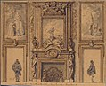 Design for a Wall Decoration with Chimneypiece and Two Figures MET 61.692.jpg
