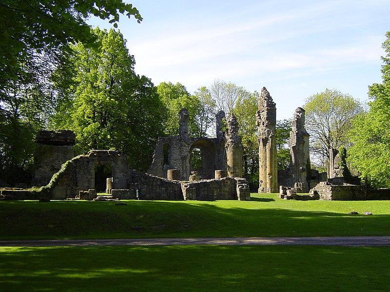 Vernietigde klooster van Montfaucon