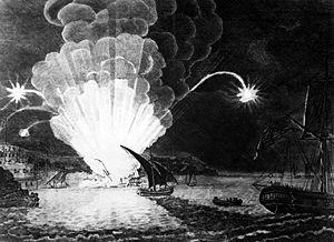 Destruction of Fire Ship Intrepid