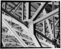 Detail of truss joint in hangar bay. - Chanute Air Force Base, Hangar No. 2, Junction of Curtiss Street and Sentry Street, Rantoul, Champaign County, IL HABS ILL,10-RAN.V,1E-18.tif