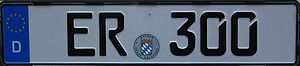 Symbols for zero - German license plate with slit zeros