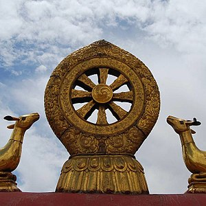 Noble Eightfold Path - The eight spoke Dharma wheel symbolizes the Noble Eightfold Path