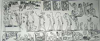 Neferneferuaten Tasherit - Image: Dibujo de tumba