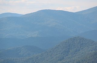 Dicks Knob mountain in United States of America