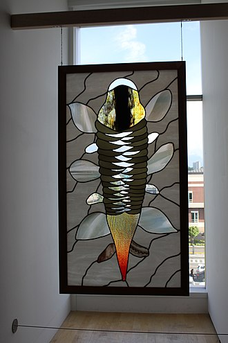 Dick Weiss - Dick Weiss window from The Paul Marioni Collection at The Tacoma Art Museum