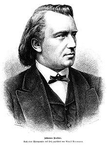 Johannes Brahms (aus: Die Gartenlaube 1880) (Quelle: Wikimedia)